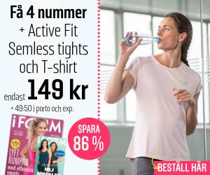 Tidningspremie: I FORM + Active Fit- Semless tights och T-shirt