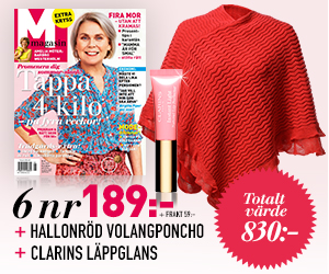 Tidningspremie: M-magasin 6 nr + volangponcho & lipgloss